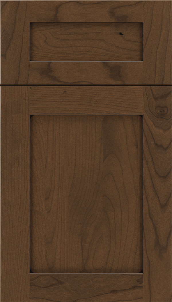 Plymouth 5pc Cherry shaker cabinet door in Sienna with Black glaze