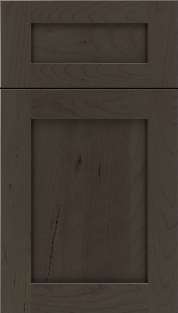 Plymouth 5pc Cherry shaker cabinet door in Thunder