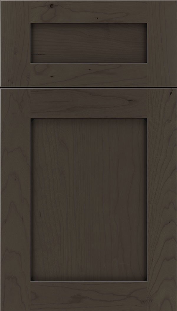 Plymouth 5pc Cherry shaker cabinet door in Thunder with Black glaze