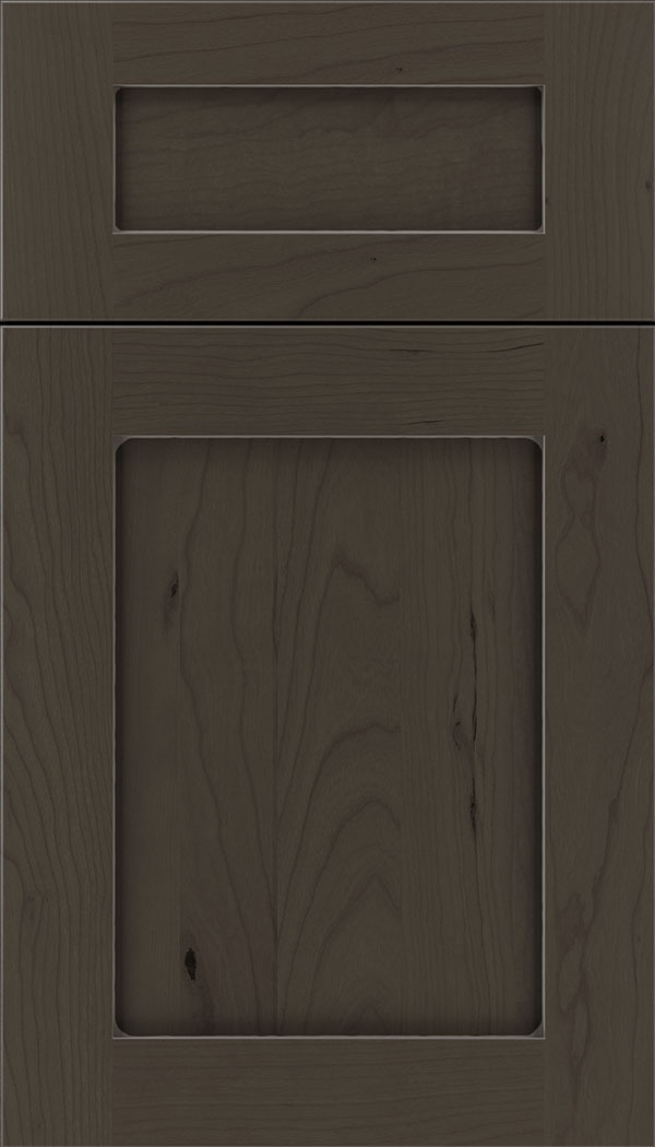 Plymouth 5pc Cherry shaker cabinet door in Thunder with Pewter glaze