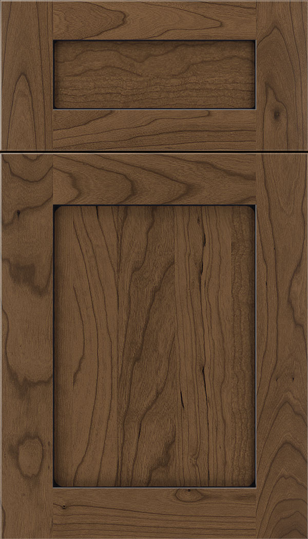 Plymouth 5pc Cherry shaker cabinet door in Toffee with Black glaze