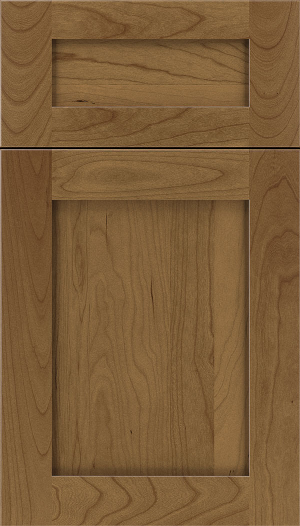 Plymouth 5pc Cherry shaker cabinet door in Tuscan