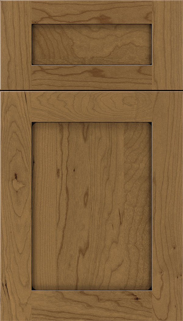 Plymouth 5pc Cherry shaker cabinet door in Tuscan with Black glaze