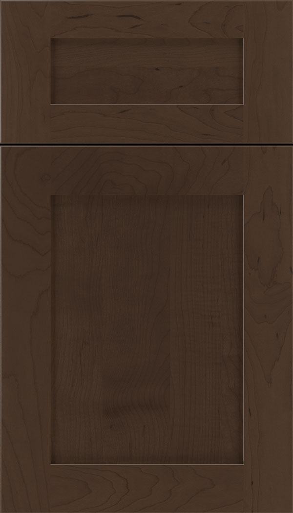 Plymouth 5pc Maple shaker cabinet door in Cappuccino