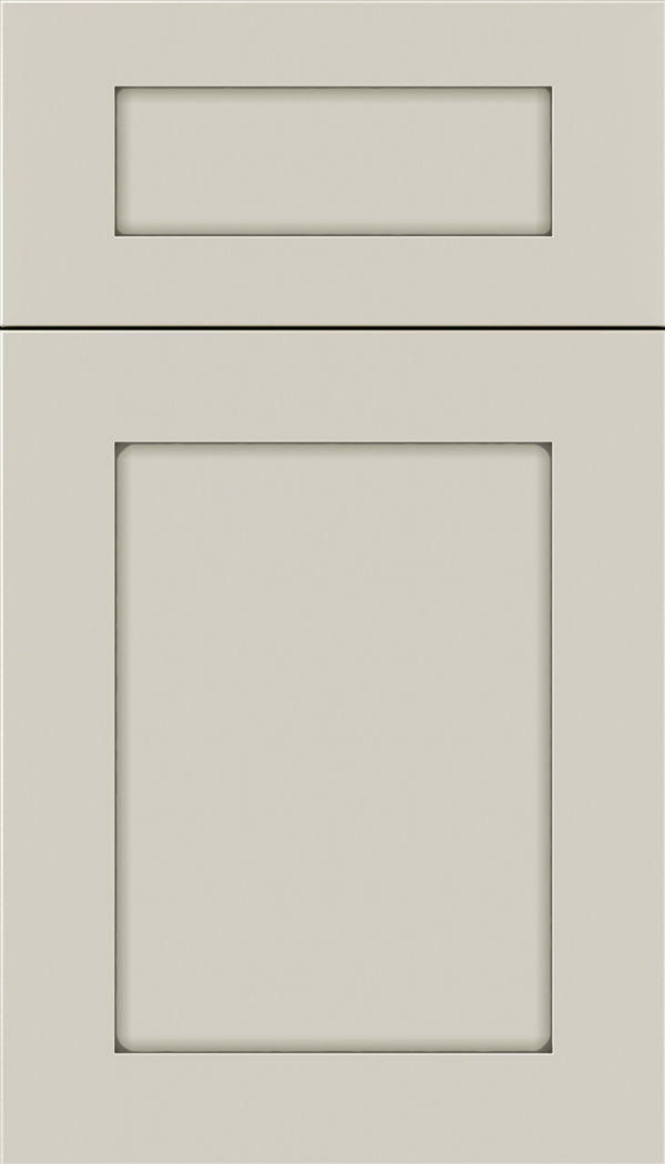 Plymouth 5pc Maple shaker cabinet door in Cirrus with Pewter glaze
