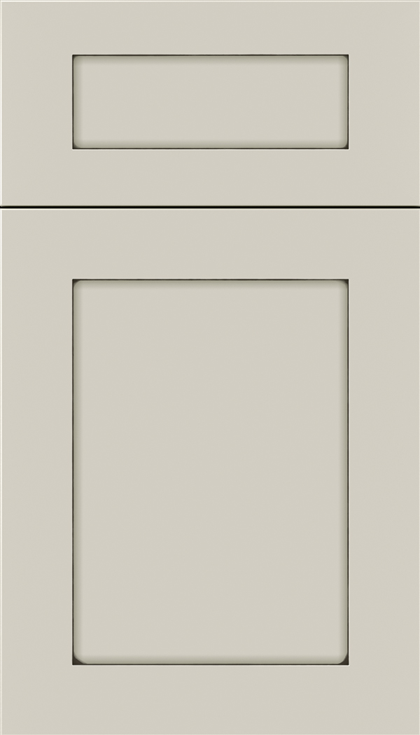 Plymouth 5pc Maple shaker cabinet door in Cirrus with Smoke glaze