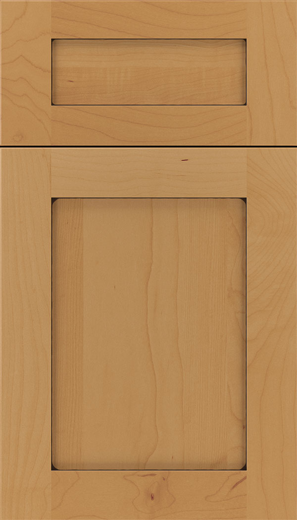 Plymouth 5pc Maple shaker cabinet door in Ginger with Black glaze
