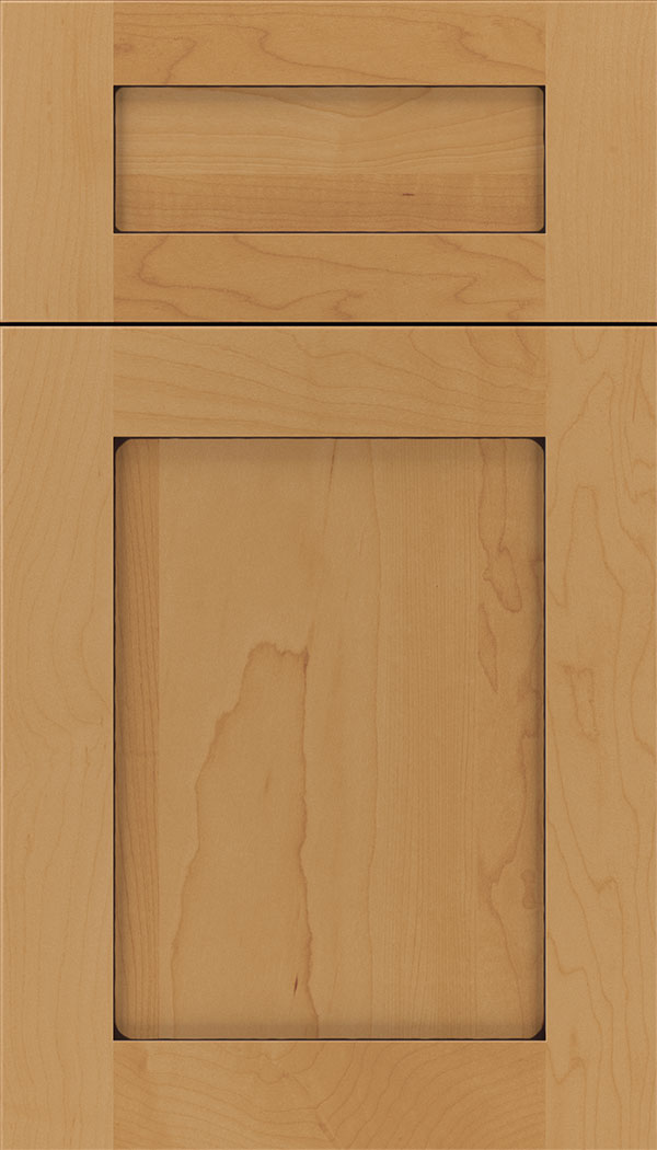 Plymouth 5pc Maple shaker cabinet door in Ginger with Mocha glaze