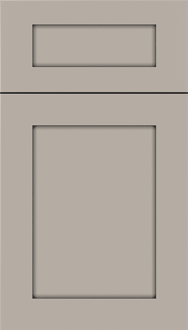 Plymouth 5pc Maple shaker cabinet door in Nimbus with Pewter glaze