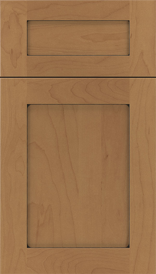 Plymouth 5pc Maple shaker cabinet door in Nutmeg with Black glaze