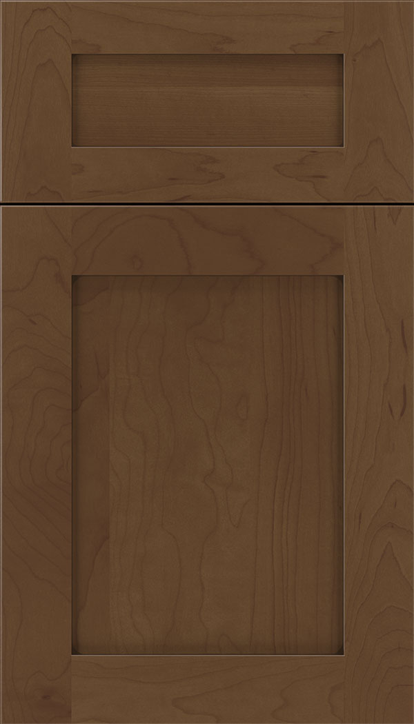 Plymouth 5pc Maple shaker cabinet door in Sienna with Mocha glaze