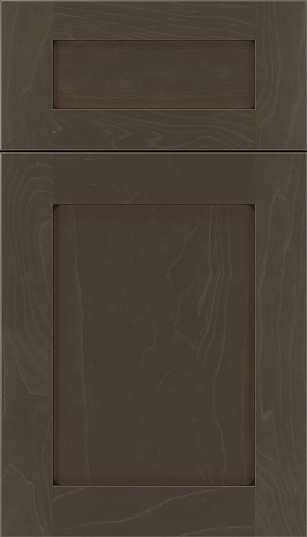 Plymouth 5pc Maple shaker cabinet door in Thunder with Black glaze