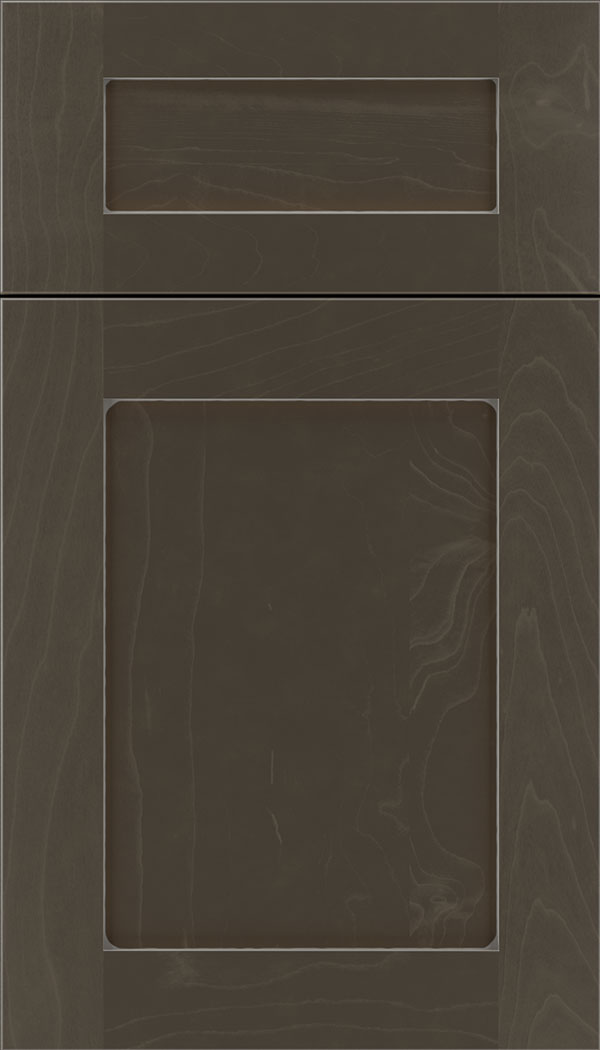 Plymouth 5pc Maple shaker cabinet door in Thunder with Pewter glaze