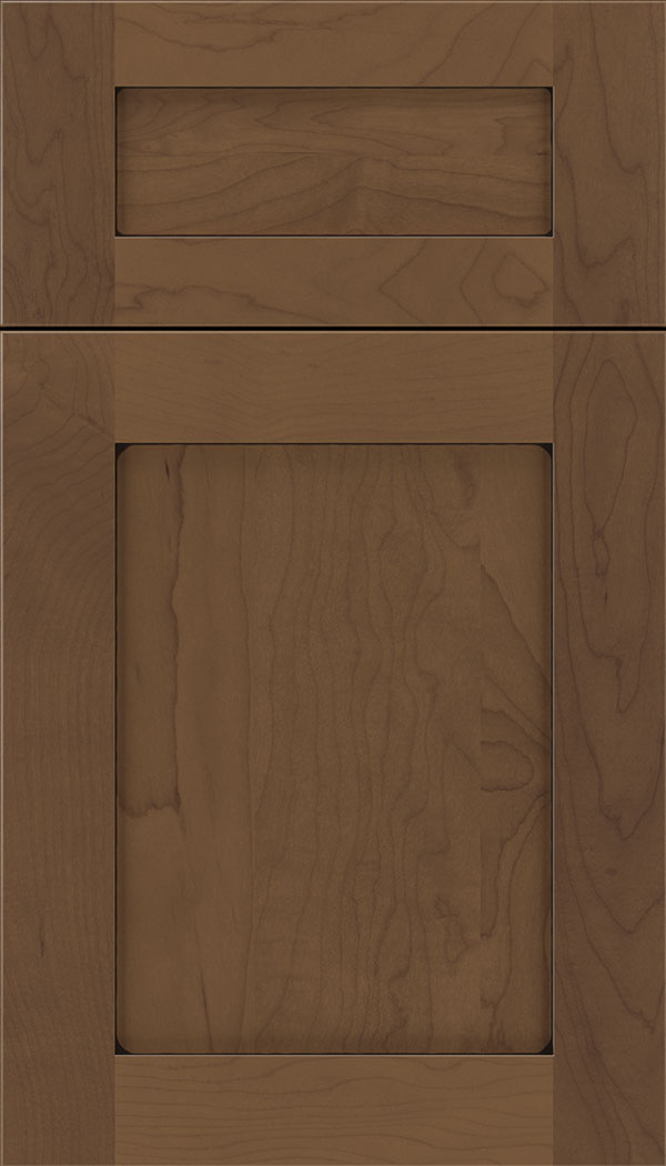 Plymouth 5pc Maple shaker cabinet door in Toffee with Black glaze