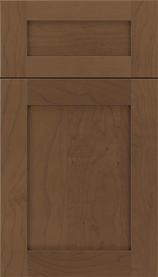 Plymouth 5pc Maple shaker cabinet door in Toffee with Mocha glaze