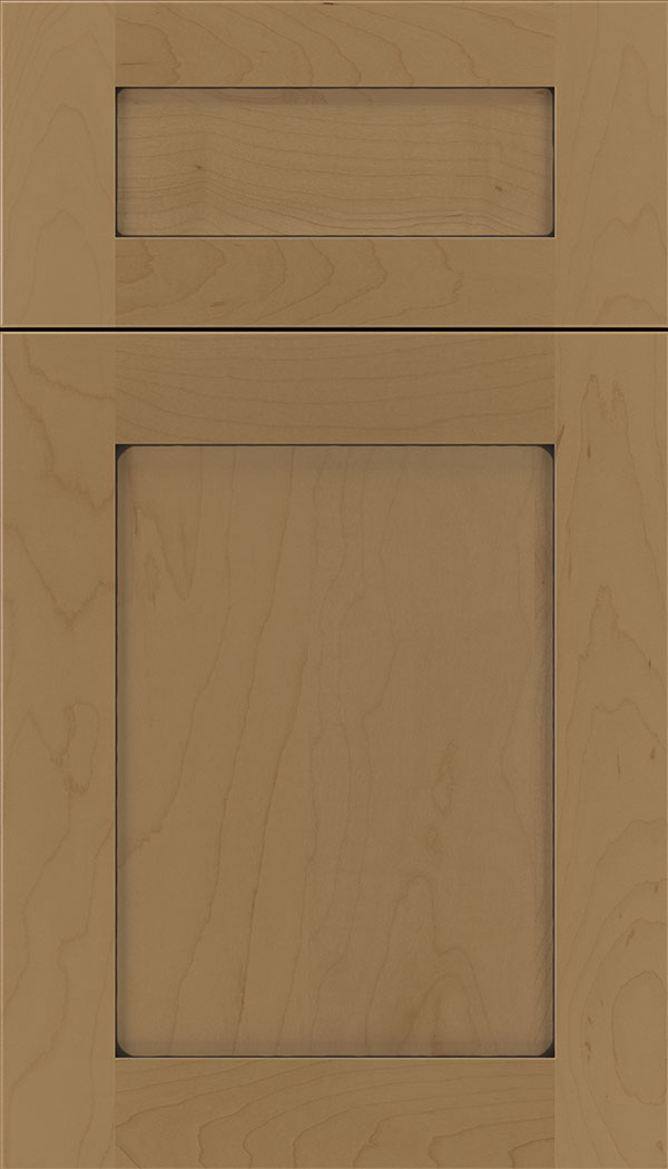 Plymouth 5pc Maple shaker cabinet door in Tuscan with Black glaze