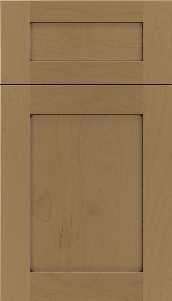 Plymouth 5pc Maple shaker cabinet door in Tuscan with Mocha glaze