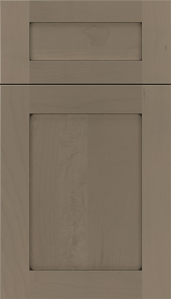 Plymouth 5pc Maple shaker cabinet door in Winter with Black glaze