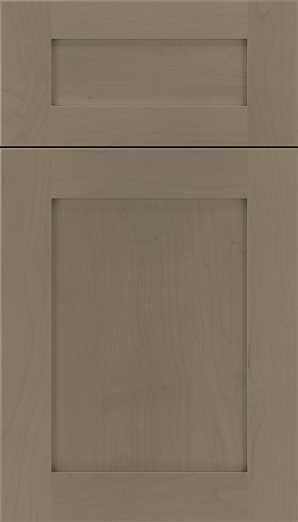 Plymouth 5pc Maple shaker cabinet door in Winter with Pewter glaze