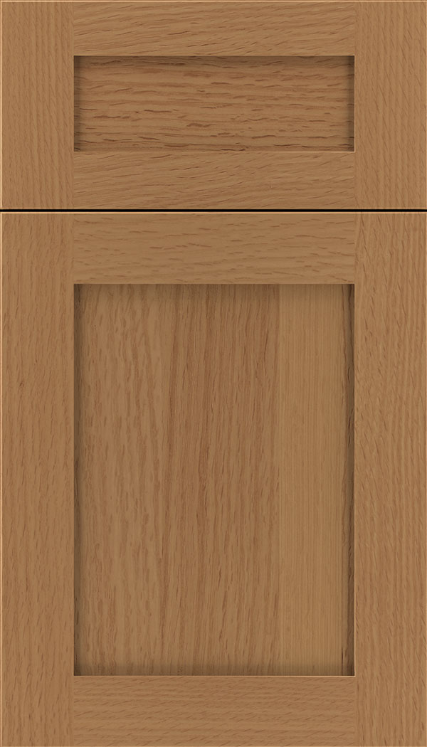 Plymouth 5pc Rift Oak shaker cabinet door in Ginger