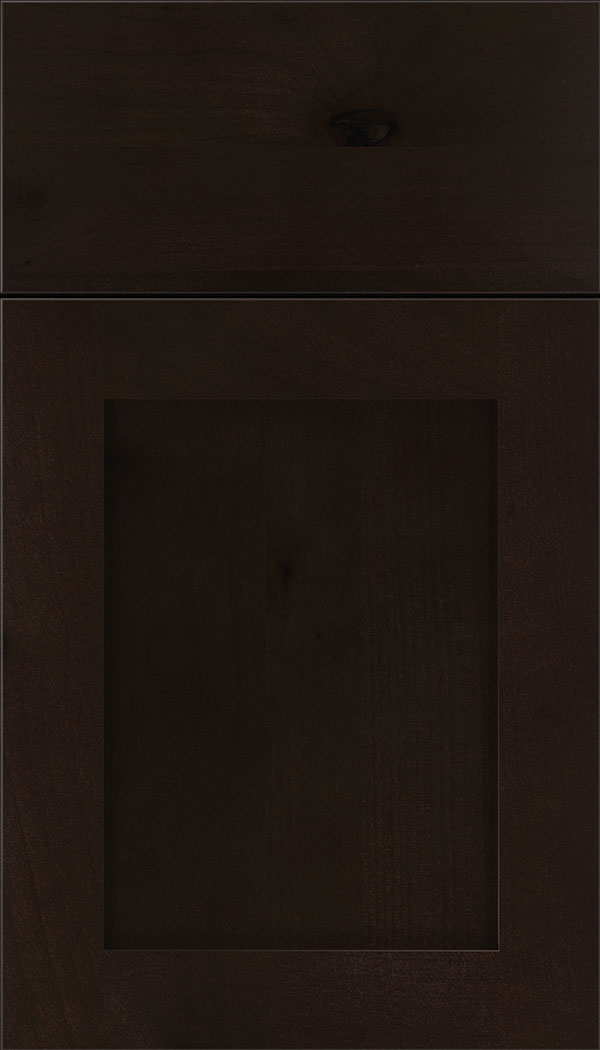 Plymouth Alder shaker cabinet door in Espresso
