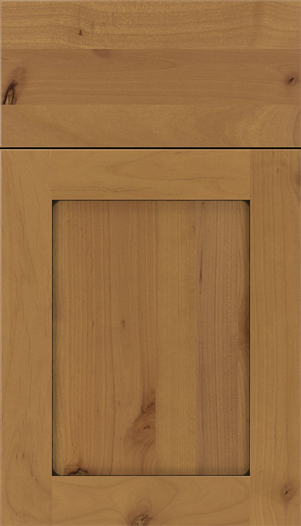 Plymouth Alder shaker cabinet door in Ginger with Black glaze