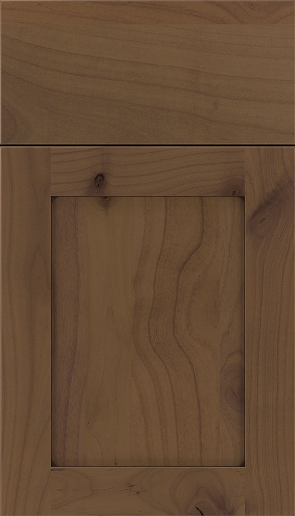 Plymouth Alder shaker cabinet door in Sienna with Mocha glaze