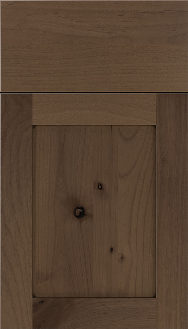 Plymouth Alder shaker cabinet door in Toffee with Black glaze