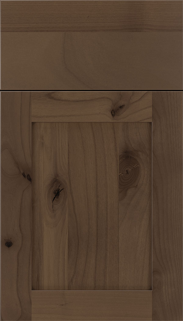 Plymouth Alder shaker cabinet door in Toffee with Mocha glaze