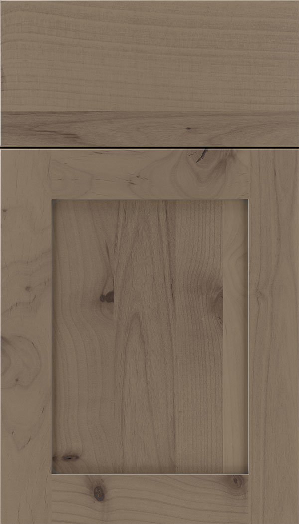 Plymouth Alder shaker cabinet door in Winter with Pewter glaze