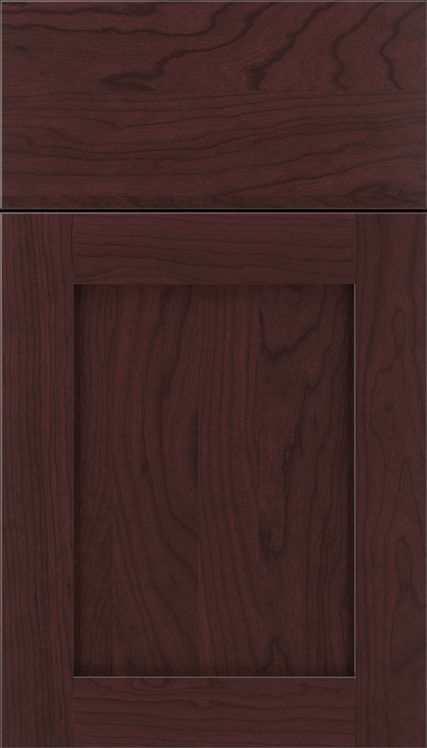 Plymouth Cherry shaker cabinet door in Bordeaux