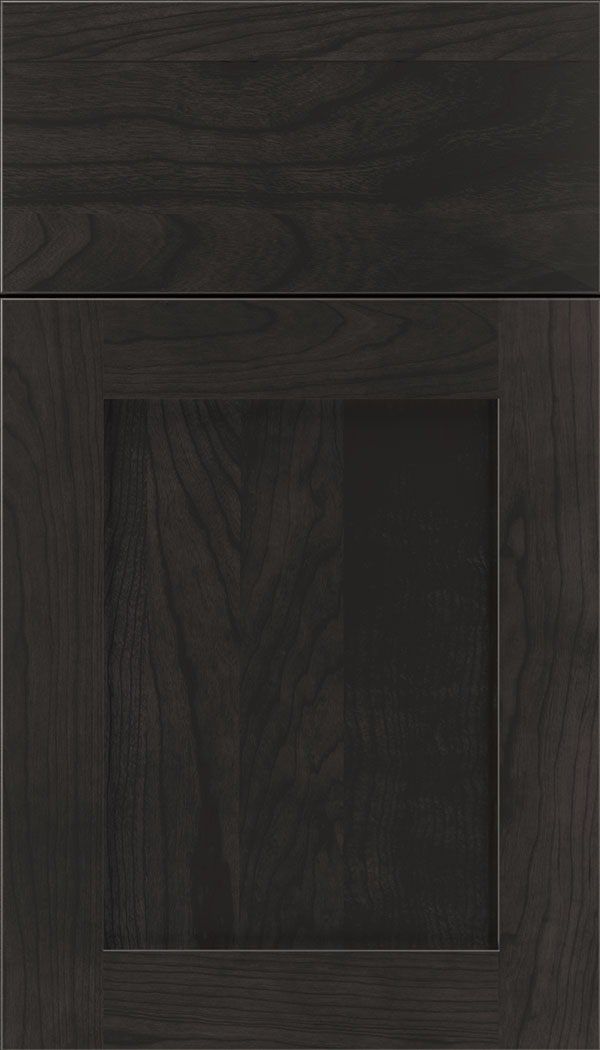 Plymouth Cherry shaker cabinet door in Charcoal