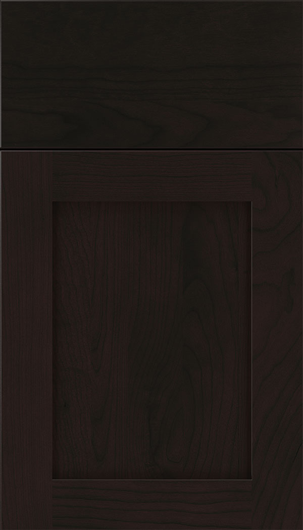 Plymouth Cherry shaker cabinet door in Espresso