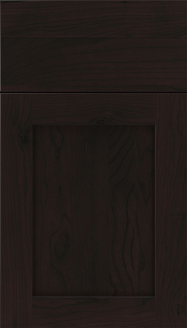 Plymouth Cherry shaker cabinet door in Espresso with Black glaze