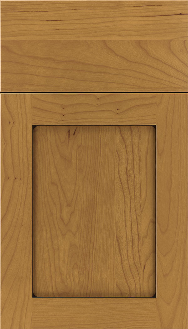Plymouth Cherry shaker cabinet door in Ginger with Black glaze