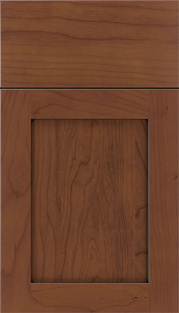 Plymouth Cherry shaker cabinet door in Russet with Black glaze