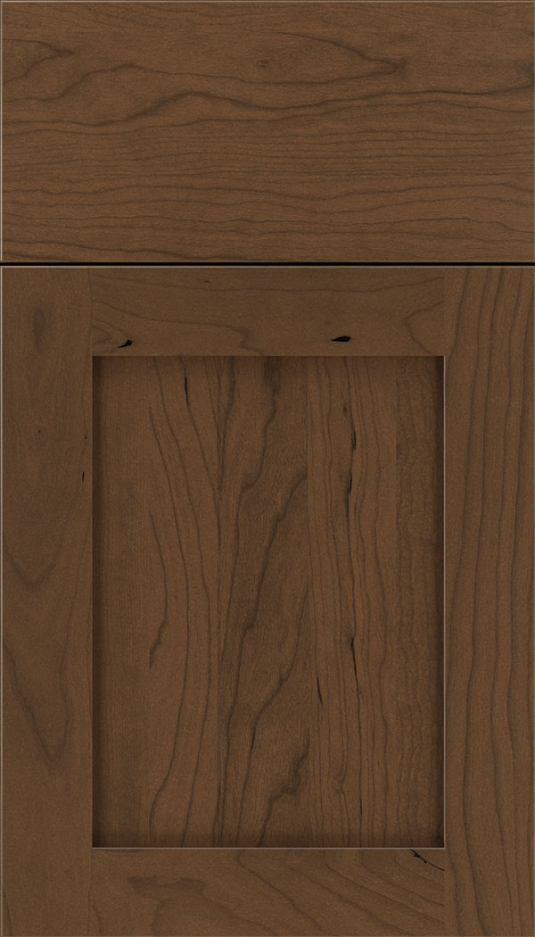 Plymouth Cherry shaker cabinet door in Sienna