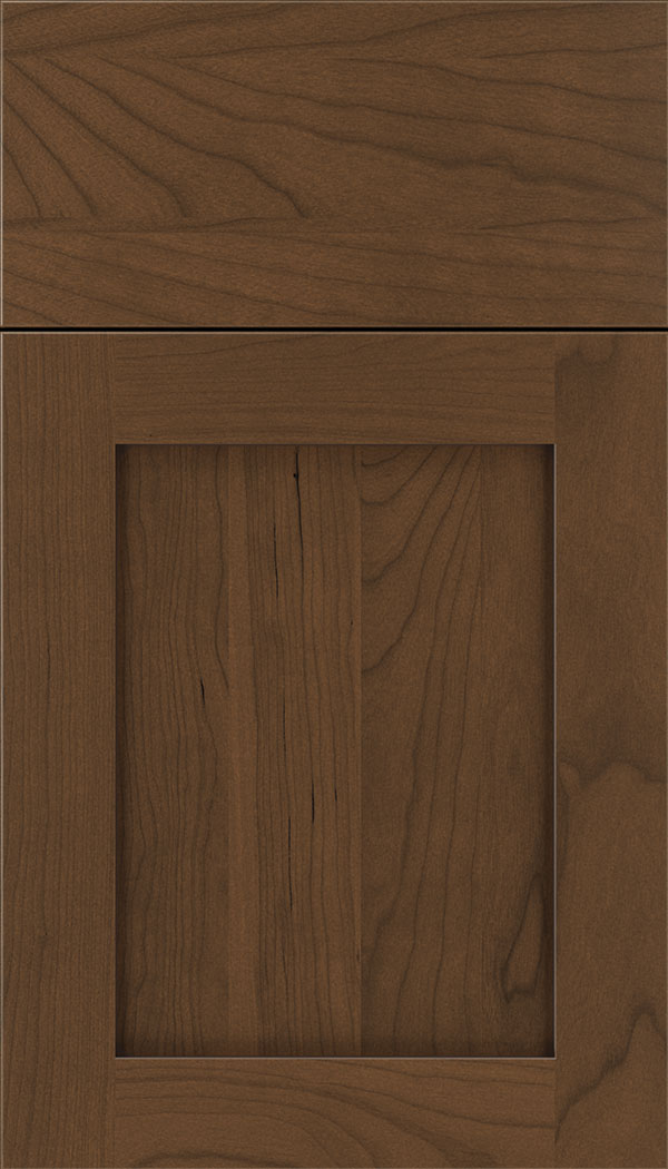 Plymouth Cherry shaker cabinet door in Sienna with Mocha glaze
