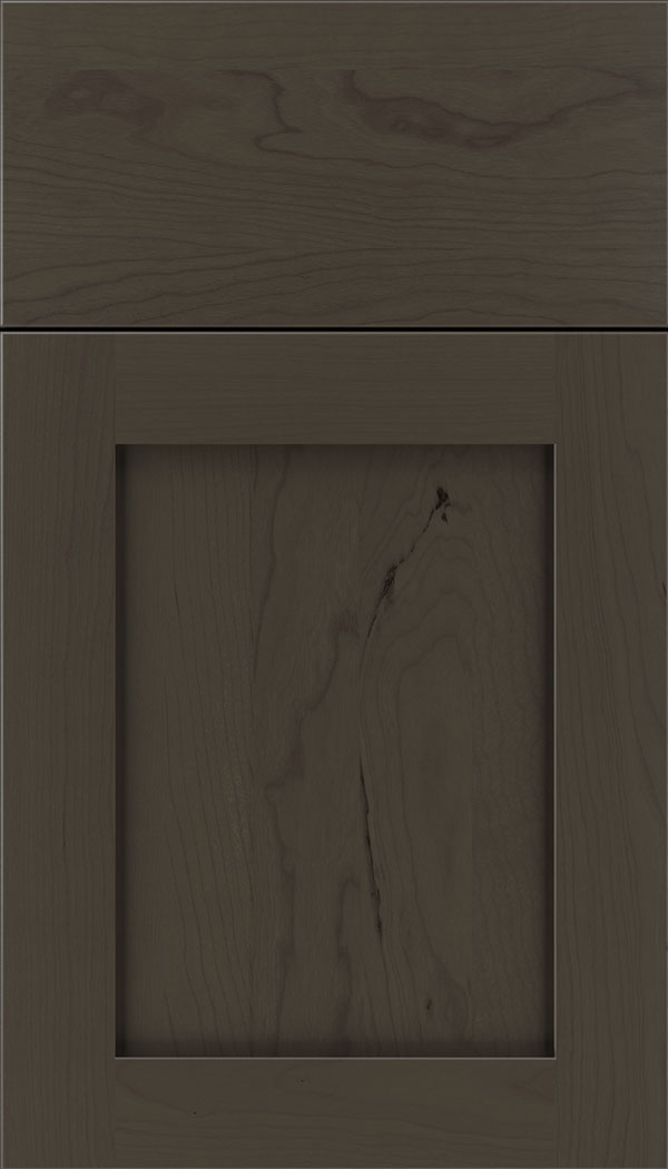 Plymouth Cherry shaker cabinet door in Thunder
