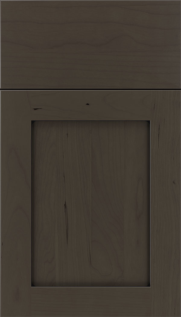 Plymouth Cherry shaker cabinet door in Thunder with Black glaze