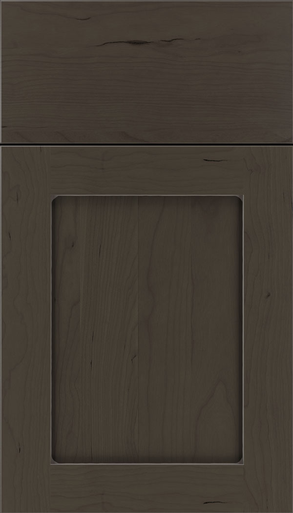 Plymouth Cherry shaker cabinet door in Thunder with Pewter glaze