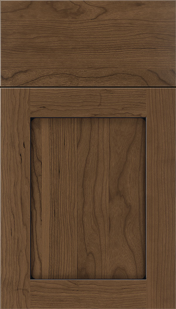 Plymouth Cherry shaker cabinet door in Toffee with Black glaze