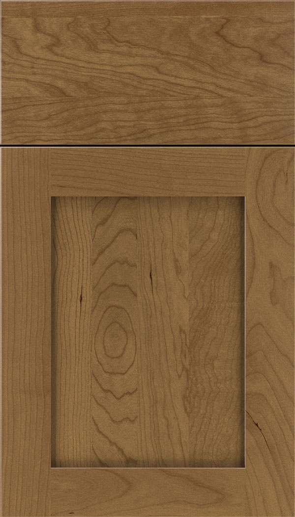 Plymouth Cherry shaker cabinet door in Tuscan