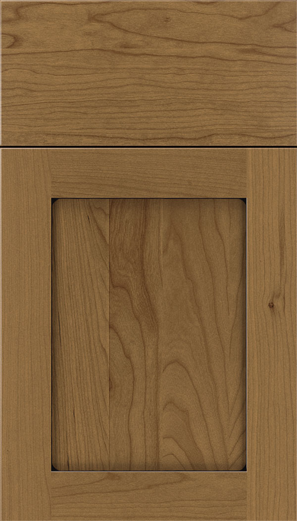 Plymouth Cherry shaker cabinet door in Tuscan with Black glaze