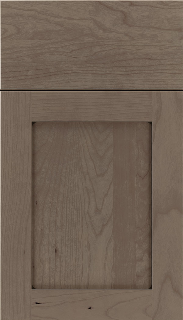 Plymouth Cherry shaker cabinet door in Winter with Black glaze