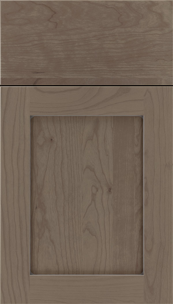 Plymouth Cherry shaker cabinet door in Winter with Pewter glaze