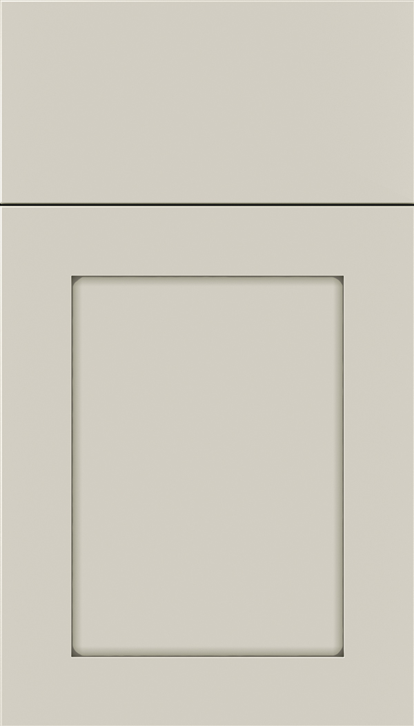 Plymouth Maple shaker cabinet door in Cirrus with Pewter glaze