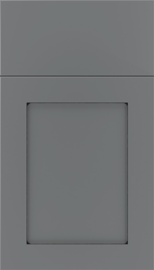 Plymouth Maple shaker cabinet door in Cloudburst with Black glaze