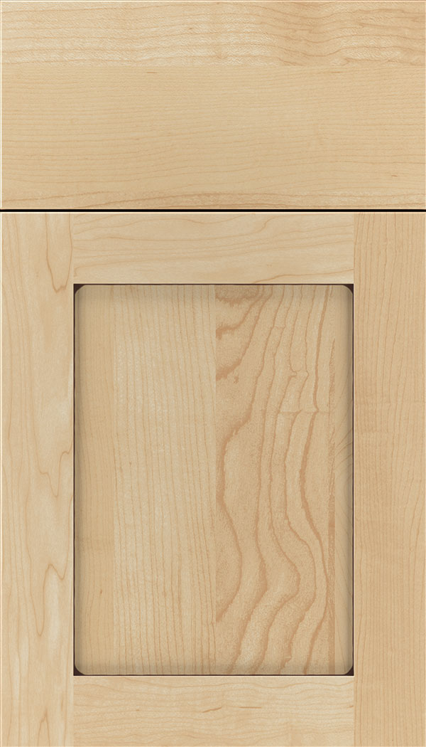 Plymouth Maple shaker cabinet door in Natural with Mocha glaze