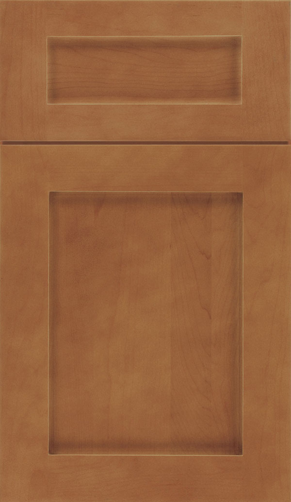 Plymouth Maple shaker cabinet door in Nutmeg